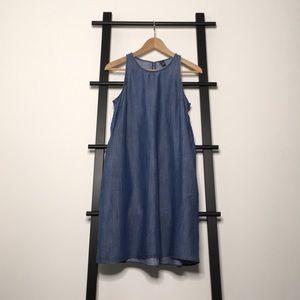 ✂️ GAP Sleeveless Trapeze Shift Denim Dress